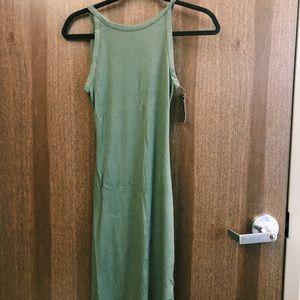 Hollister Olive-Green Midi Bodycon Dress